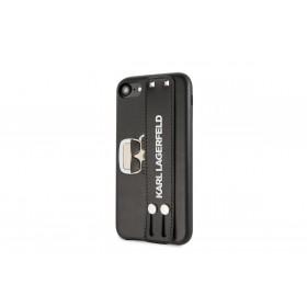 Karl Lagerfeld Head Hand Strap Puzdro pre iPhone 7/8/SE2020 Black