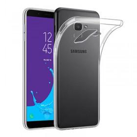 Ultratenké Silikonové Puzdro pre Samsung Galaxy J6 / J600F priehľadné