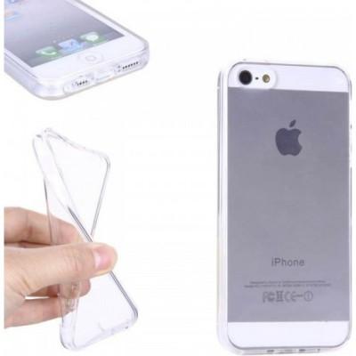 Puzdro SES Ultratenký silikonový kryt Apple iPhone 5 5S SE - priehľadné