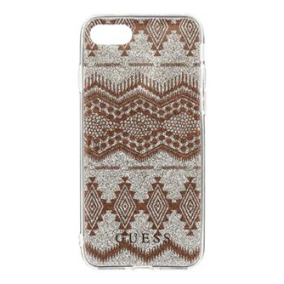 Guess Ethnic Chic Tribal 3D TPU Puzdro Taupe pre iPhone 7/8/SE2020