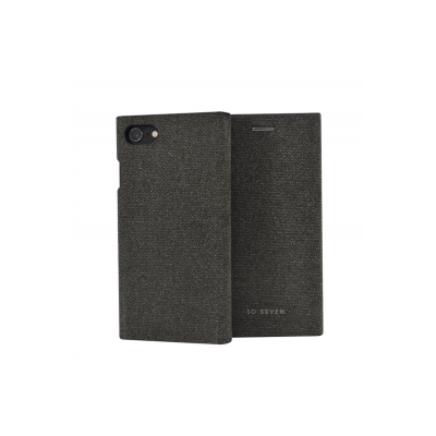 SoSeven Premium Gentleman Book Case Fabric Anthracite pre iPhone 6/6S/7/8 Plus