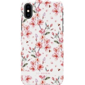 SoSeven Fashion Tokyo White Cherry Blossom Flowers Cover pre iPhone X/ XS