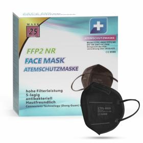 MundoSalud CTPL-0020 Respirátor FFP2 NR / KN95 Black 1ks/bal